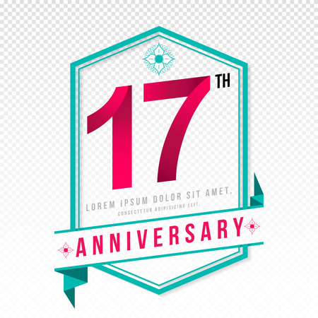 adorning: Anniversary emblems 17 anniversary template design