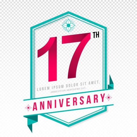 color separation: Anniversary emblems 17 anniversary template design