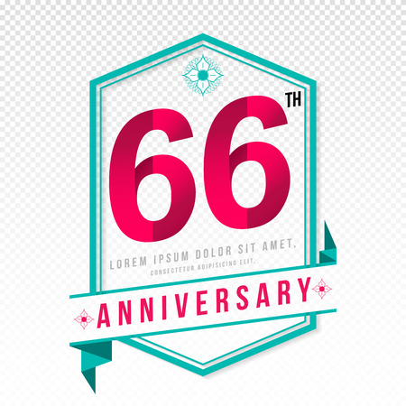 adorn: Anniversary emblems 66 anniversary template design
