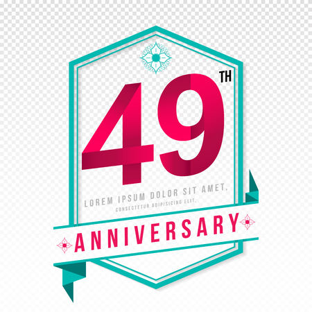 adorning: Anniversary emblems 49 anniversary template design Illustration