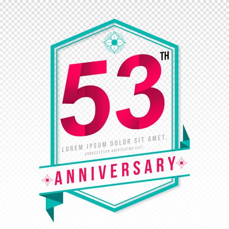 adorn: Anniversary emblems 53 anniversary template design