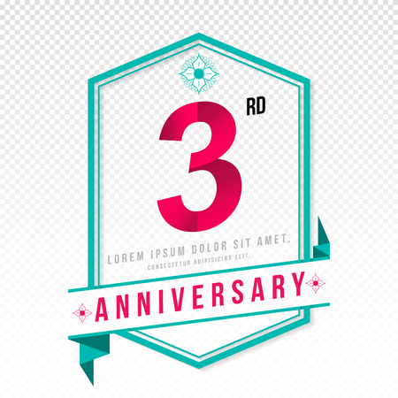 adorn: Anniversary emblems 3 anniversary template design