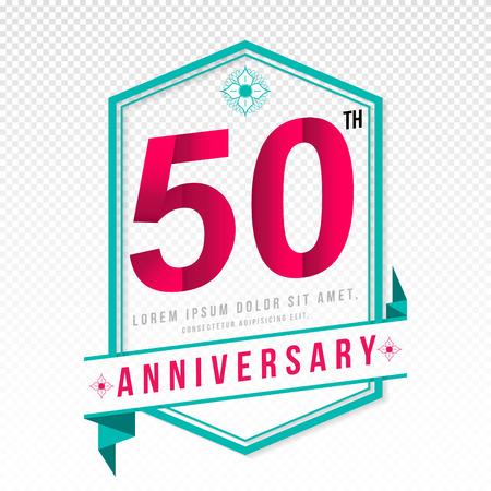 adorn: Anniversary emblems 50 anniversary template design Illustration