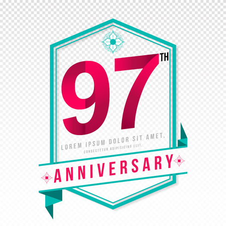 adorn: Anniversary emblems 97 anniversary template design