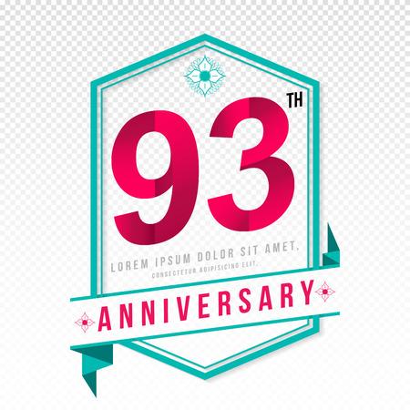 adorn: Anniversary emblems 93 anniversary template design