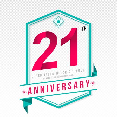adorn: Anniversary emblems 21 anniversary template design