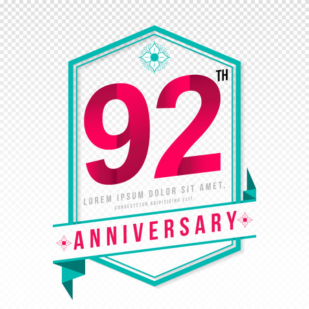 adorn: Anniversary emblems 92 anniversary template design