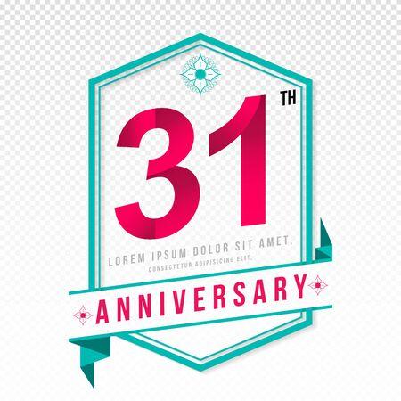 color separation: Anniversary emblems 31 anniversary template design