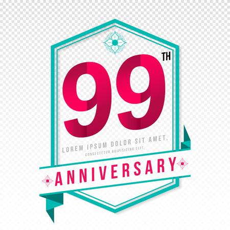 99: Anniversary emblems 99 anniversary template design
