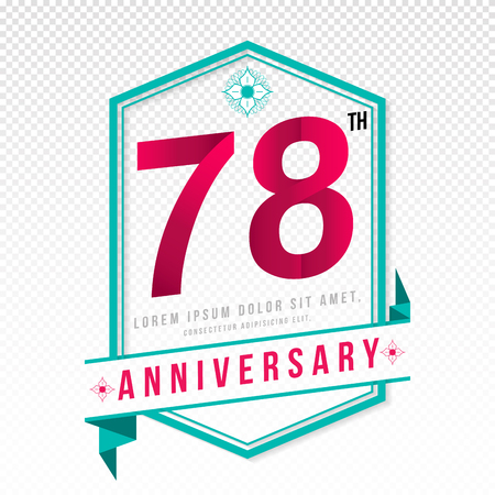 78: Anniversary emblems 78 anniversary template design
