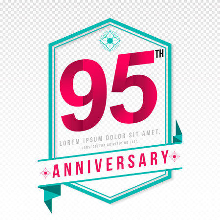 95: Anniversary emblems 95 anniversary template design