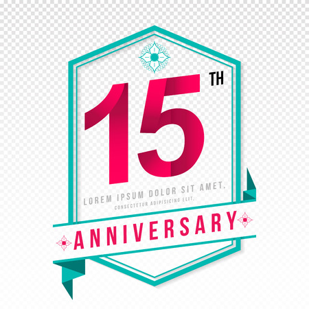 adorning: Anniversary emblems 15 anniversary template design