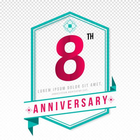 adorn: Anniversary emblems 8 anniversary template design