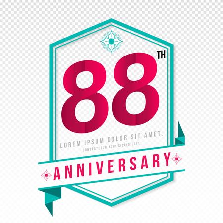 color separation: Anniversary emblems 88 anniversary template design