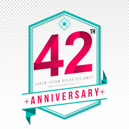 adorning: Anniversary emblems 42 anniversary template design