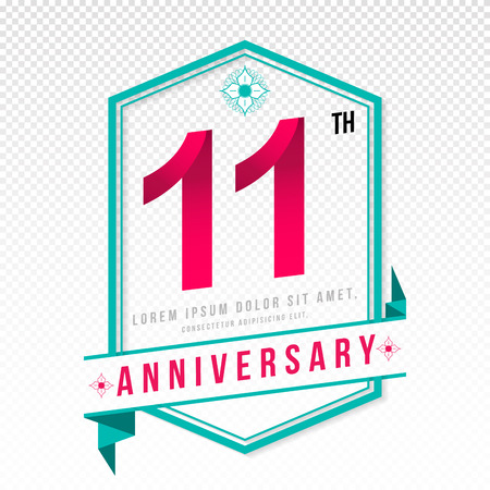 adorn: Anniversary emblems 11 anniversary template design
