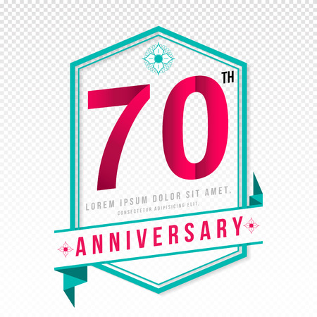 adorn: Anniversary emblems 70 anniversary template design Illustration