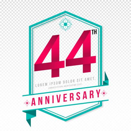 color separation: Anniversary emblems 44 anniversary template design