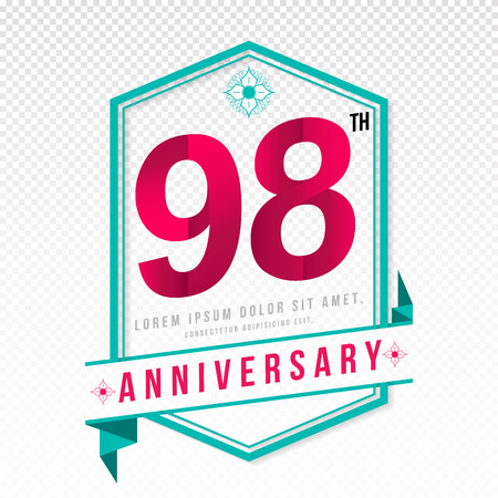 adorning: Anniversary emblems 98 anniversary template design
