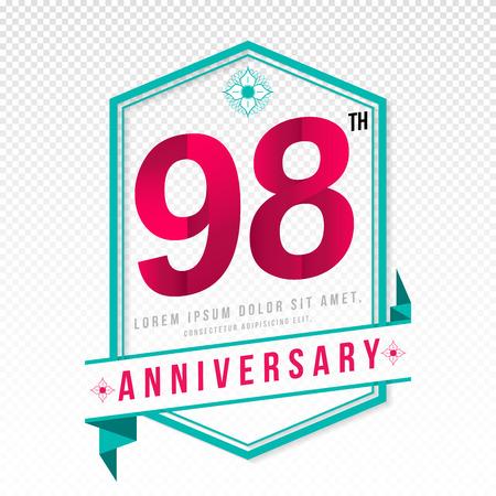 adorn: Anniversary emblems 98 anniversary template design