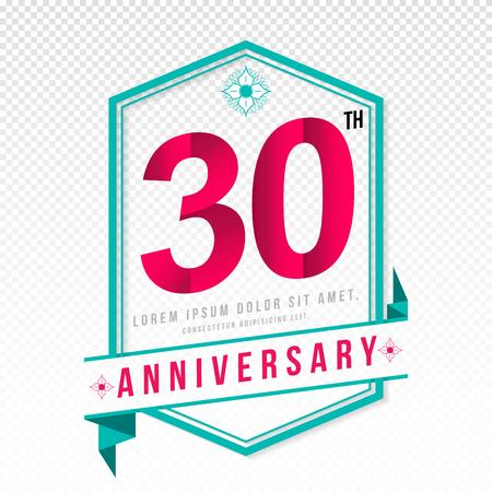 Anniversary emblems 30 anniversary template design