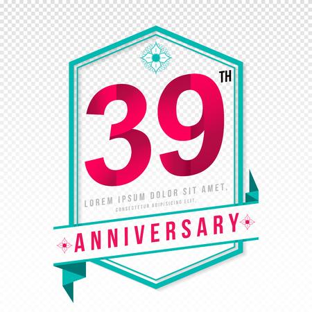 adorn: Anniversary emblems 39 anniversary template design