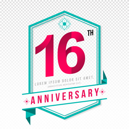 adorning: Anniversary emblems 16 anniversary template design