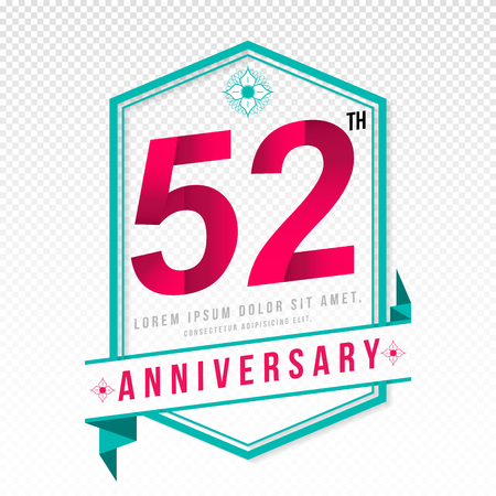 adorning: Anniversary emblems 52 anniversary template design