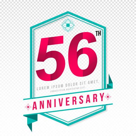 color separation: Anniversary emblems 56 anniversary template design