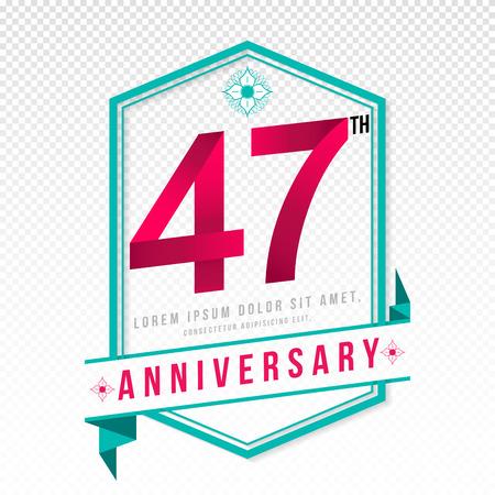 color separation: Anniversary emblems 47 anniversary template design