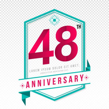48: Anniversary emblems 48 anniversary template design Illustration