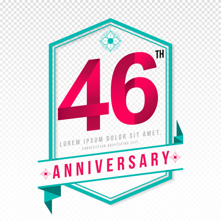 adorning: Anniversary emblems 46 anniversary template design