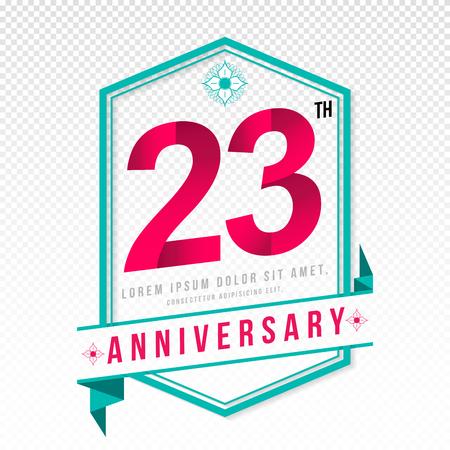 adorn: Anniversary emblems 23 anniversary template design