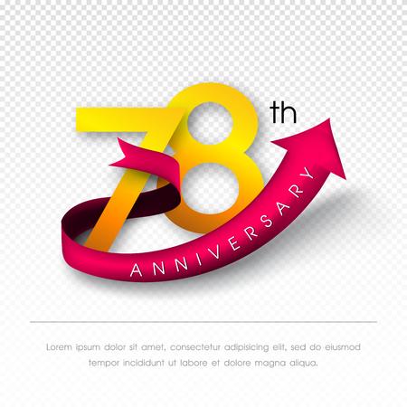 Anniversary emblems 78 anniversary template design