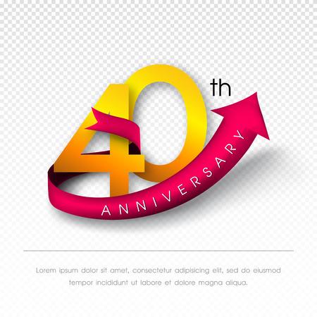 40: Anniversary emblems 40 anniversary template design