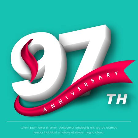 Anniversary emblems 97 anniversary template design