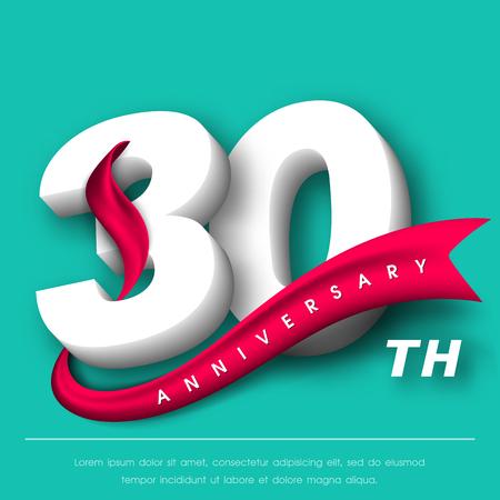 Anniversary emblems 30 anniversary template design  イラスト・ベクター素材