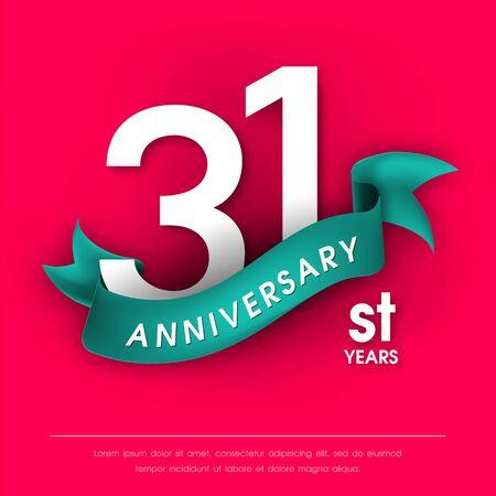 31st: Anniversary emblems 31 anniversary template design