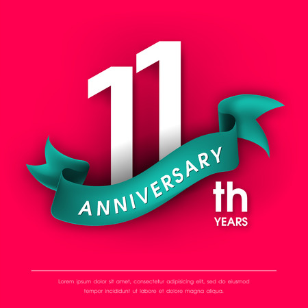 11 number: Anniversary emblems 11 anniversary template design