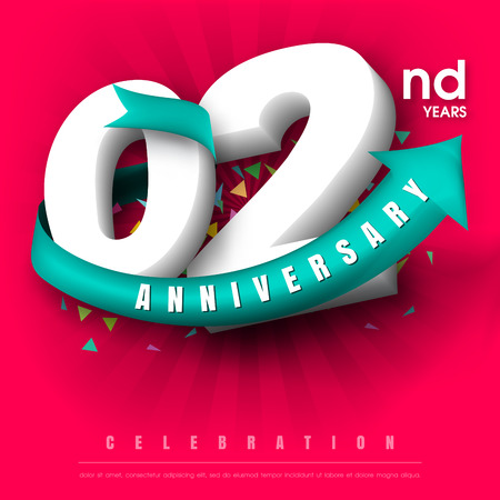 adorn: Anniversary emblems 2 anniversary template design Illustration