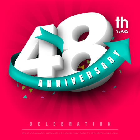adorn: Anniversary emblems 48 anniversary template design Illustration