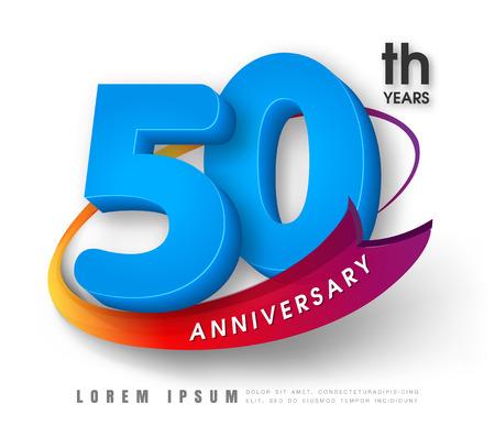 周年記念エンブレム 50 周年記念テンプレート デザイン