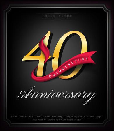 Anniversary emblems 40 anniversary template design