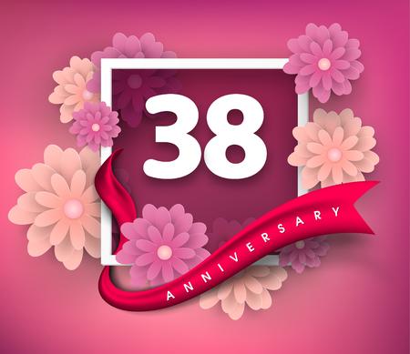 38 anniversary invitation card