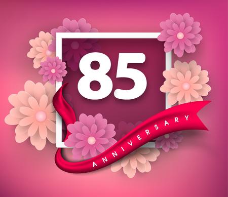 85 anniversary invitation card