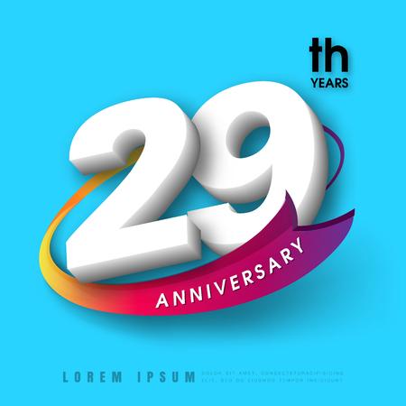 Anniversary emblems 29 anniversary template design