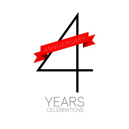 Anniversary emblems 4 anniversary template design