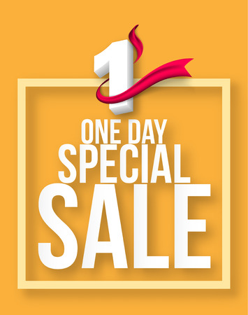 One day Sale banner template design, Big sale special offer template,banners,wallpaper, invitation, posters, brochure, voucher discount.