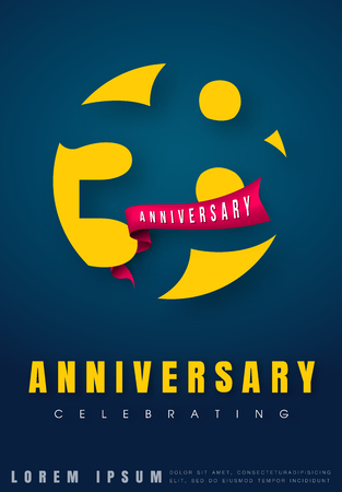 Anniversary emblems 38 anniversary template design. Creative design for your greetings card, flyers, invitation, posters, brochure, banners, calendar