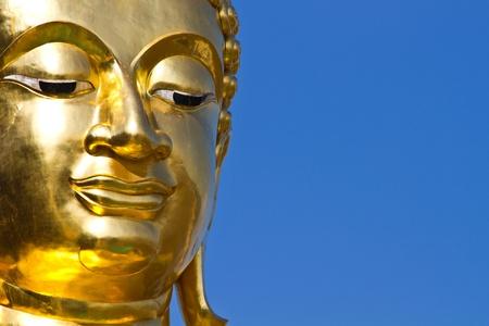 Golden buddha statue, Thailand Stock Photo